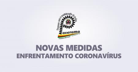 NOVAS MEDIDAS DE ENFRETAMENTO AO CORONAVÍRUS