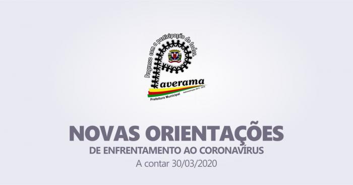 Novas Orientações de enfrentamento ao Coronavírus