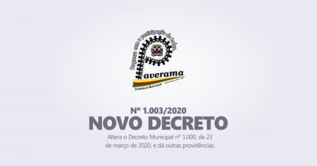 Decreto Nº 1.003/2020, DE 28 DE MARÇO DE 2018