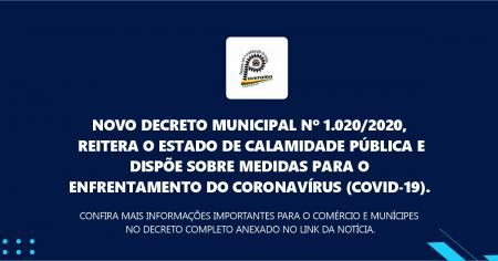 Novo Decreto Municipal nº 1.020/2020