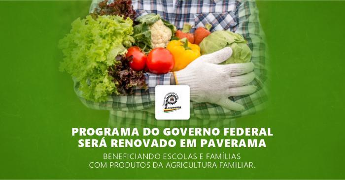 Programa do Governo Federal será renovado em Paverama beneficiando escolas e famílias