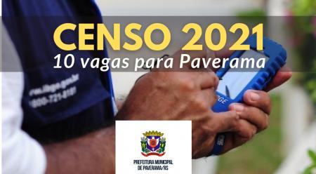 Inscrições para o Censo 2021 encerram na próxima segunda-feira