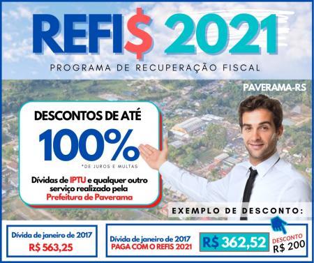 REFIS 2021 - Contribuinte em débito com o município pode pagar sua dívida sem pagar juros e multas