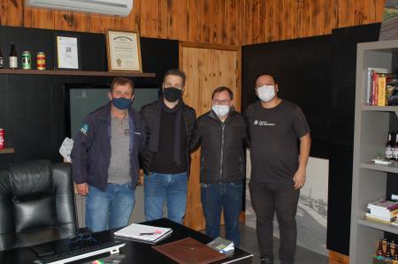 Na foto: Maurício, João, Fabiano e Marcus