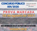 Concurso público iniciado em 2020 tem prova marcada para final de agosto