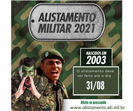 Prazo para alistamento militar encerra no dia 31 de agosto