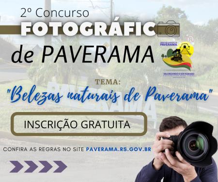 Prefeitura lança 2º Concurso Fotográfico de Paverama